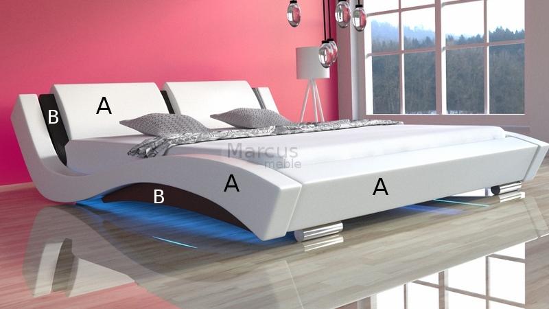 Nowoczesne łóżko tapicerowane Tango.