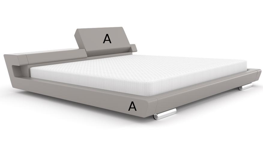 Łóżko tapicerowane z ruchomymi zagłówkami Diamond