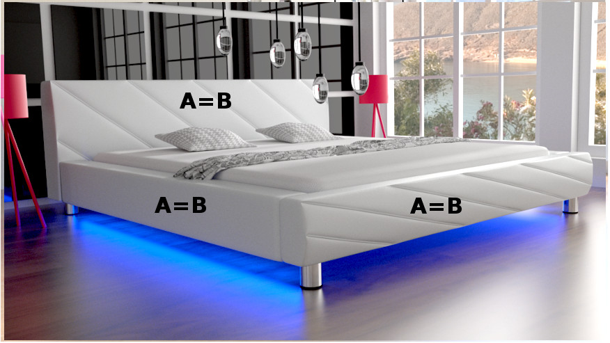 Łóżko tapicerowane Apollo kolory