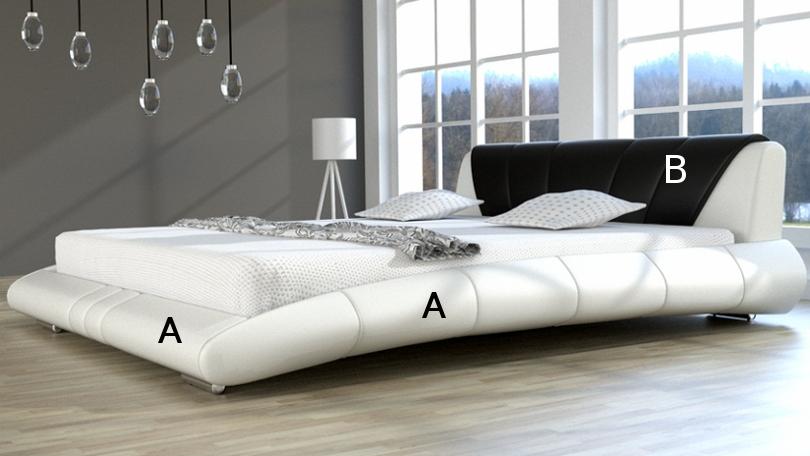 Łóżko nowoczesne tapicerowane Lazurro